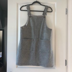NWOT Wool Overall Dress with Pockets